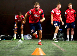 Joe Morrell sprints as Bristol City Under 23's return to training with fitness testing ahead of the 2017/18 season - Mandatory by-line: Robbie Stephenson/JMP - 30/06/2017 - FOOTBALL - SGS Wise Campus - Bristol, United Kingdom - Bristol City Under 23's Fitness Tests