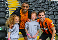 Hull City's Josh Magennis and Callum Elder pose for a photo after the match<br /> <br /> Photographer Alex Dodd/CameraSport<br /> <br /> The EFL Sky Bet League One - Hull City v Wigan Athletic - Saturday 1st May 2021 - KCOM Stadium - Kingston upon Hull<br /> <br /> World Copyright © 2021 CameraSport. All rights reserved. 43 Linden Ave. Countesthorpe. Leicester. England. LE8 5PG - Tel: +44 (0) 116 277 4147 - admin@camerasport.com - www.camerasport.com