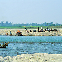 Asia, Nepal, Bardia. Funeral cremation ritual in rural Nepal