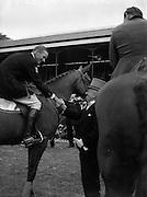 O'Ceallaigh, Sean T, Congratulates Steinkraus win on Baldoyle at RDS Horse Show.08/08/1952