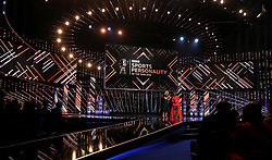 Dina Asha-Smith is interviewed on stage during the BBC Sports Personality of the Year 2018 at Birmingham Genting Arena.