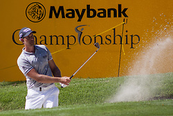 February 3, 2018 - Shah Alam, Kuala Lumpur, Malaysia - Henrik Stenson is seen taking a shot from a bunker from hole no 18 on day 3 at the Maybank Championship 2018...The Maybank Championship 2018 golf event is being hosted on 1st to 4th February at Saujana Golf & Country Club. (Credit Image: © Faris Hadziq/SOPA via ZUMA Wire)