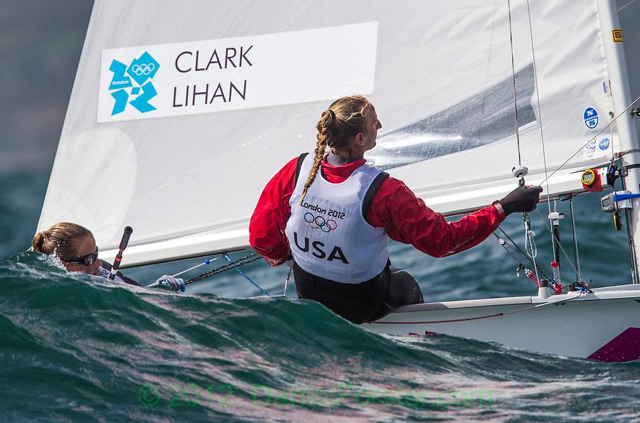 Clark Amanda, Lihan Sarah, (USA, 470 Women)<br /> <br /> 2012 Olympic Games <br /> London / Weymouth
