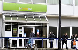 © Licensed to London News Pictures. 12/10/2011. Chatham, UK. General Views of a Job Centre Plus on the day unemployment figures are released by the Government. Photo credit : Grant Falvey/LNP