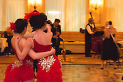 "Tropigals dance to Niki Luparelli at Chifferobe's ""An American in Paris"" at the Dorrance."