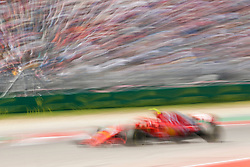 October 21, 2018 - Austin, TX, U.S. - AUSTIN, TX - OCTOBER 21: Ferrari driver Kimi Raikkonen (7) of Finland drives through turn 15 during the F1 United States Grand Prix on October 21, 2018, at Circuit of the Americas in Austin, TX. (Photo by John Crouch/Icon Sportswire) (Credit Image: © John Crouch/Icon SMI via ZUMA Press)