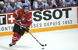 Dany Heatley (15) of Canada at play-off round quarterfinals ice-hockey game Norway vs Canada at IIHF WC 2008 in Halifax,  on May 14, 2008 in Metro Center, Halifax, Nova Scotia,Canada. (Photo by Vid Ponikvar / Sportal Images)