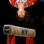 Mai Murakami of Japan on the Balance Beam during the 2015 World Artistic Gymnastics Championships at The SSE Hydro on October 23, 2015 in Glasgow, Scotland