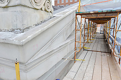 New Haven Courthouse GA 23 Phase 1. Project No: BI-JD-299.Architect: JCJ Architecture  Contractor: Kronenberger Restoration.James R Anderson Photography New Haven CT photog.com.Date of Photograph: 18 April 2013.Camera View: Front Elevation, Top Level  Image No.: 21