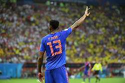 June 25, 2018 - Kazan, Russia - Yerry Mina of Colombia during the 2018 FIFA World Cup Group H match between Poland and Colombia at Kazan Arena in Kazan, Russia on June 24, 2018  (Credit Image: © Andrew Surma/NurPhoto via ZUMA Press)
