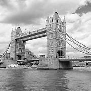 Tower Bridge - London, UK - Black & White