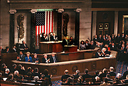 Washington, DC,1989/02/09 President H.W. Bush delivers  State of Union Message.<br />Photo by Dennis Brack