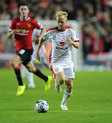 Milton Keynes Dons' Ben Reeves - Photo mandatory by-line: Joe Meredith/JMP - Mobile: 07966 386802 26/08/2014 - SPORT - FOOTBALL - Milton Keynes - Stadium MK - Milton Keynes Dons v Manchester United - Capital One Cup