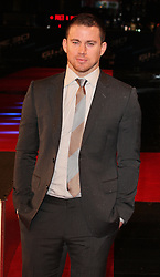 CHANNING TATUM during the film premiere, G.I.Joe - Retaliation, Empire Cinema, Leicester Sq, London, UK, 18 March, 2013. photo by: i-Images..