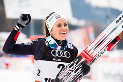 January 6, 2018 - Val Di Fiemme, ITALY - 180106 Heidi Weng of Norway celebrates after women's 10km mass start classic technique during Tour de Ski on January 6, 2018 in Val di Fiemme..Photo: Jon Olav Nesvold / BILDBYRN / kod JE / 160122 (Credit Image: © Jon Olav Nesvold/Bildbyran via ZUMA Wire)
