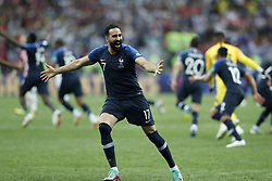 Adil Rami of France during the 2018 FIFA World Cup Russia Final match between France and Croatia at the Luzhniki Stadium on July 15, 2018 in Moscow, Russia