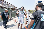 THOUSAND OAKS, CA Sunday, August 12, 2018 - Nike Basketball Academy. Isaiah Stewart 2019 #23 of La Lumiere School poses for a photo. <br /> NOTE TO USER: Mandatory Copyright Notice: Photo by Jon Lopez / Nike