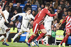 January 24, 2019 - Madrid, Spain - Luka Modric (midfielder; Real Madrid) in action during Copa del Rey, Quarter Final match between Real Madrid and Girona FC at Santiago Bernabeu Stadium on January 24, 2019 in Madrid, Spain (Credit Image: © Jack Abuin/ZUMA Wire)