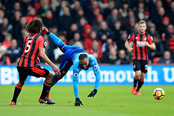 14 January 2018 -  Premier League - AFC Bournemouth v Arsenal - Alexandre Lacazette of Arsenal upended by Nathan Ake of AFC Bournemouth - Photo: Marc Atkins/Offside