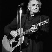 PENNSYLVANIA - DECEMBER 18: Johnny Cash performs on December 18, 1992 in Easton, Pennsylvania.©Lisa Lake