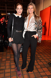 Left to right, CHELSEA LEYLAND and MARYNA LINCHUK at the YSL Beauty: YSL Loves Your Lips party held at The Boiler House,The Old Truman Brewery, Brick Lane,London on 20th January 2015.