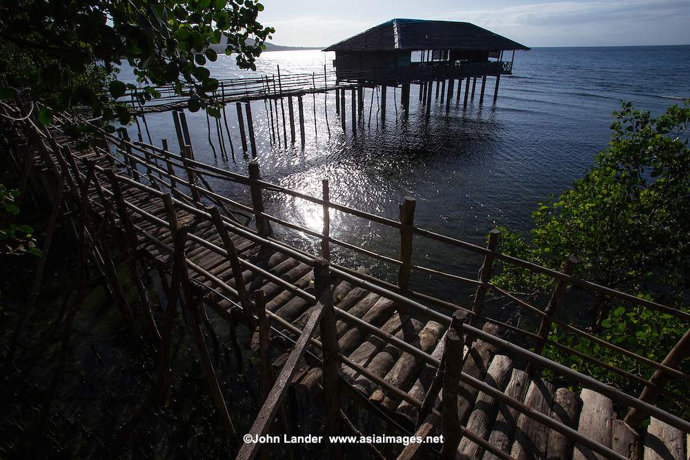 Guiwanon Tree House and Mangroves, officially Guiwanon Spring Park, known for its natural spring and mangroves.  Shallow waters feed the fertile mangroves, a preserve and marine habitat.  Originally, Guiwanon was developed as a nursery to grow seedlings of mangroves. Later construction of tree houses and a pavilion over water was built.