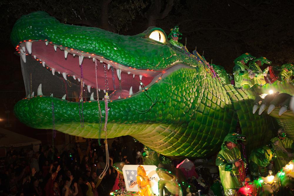 Alligator Float  in the 2011 Bacchus parade.