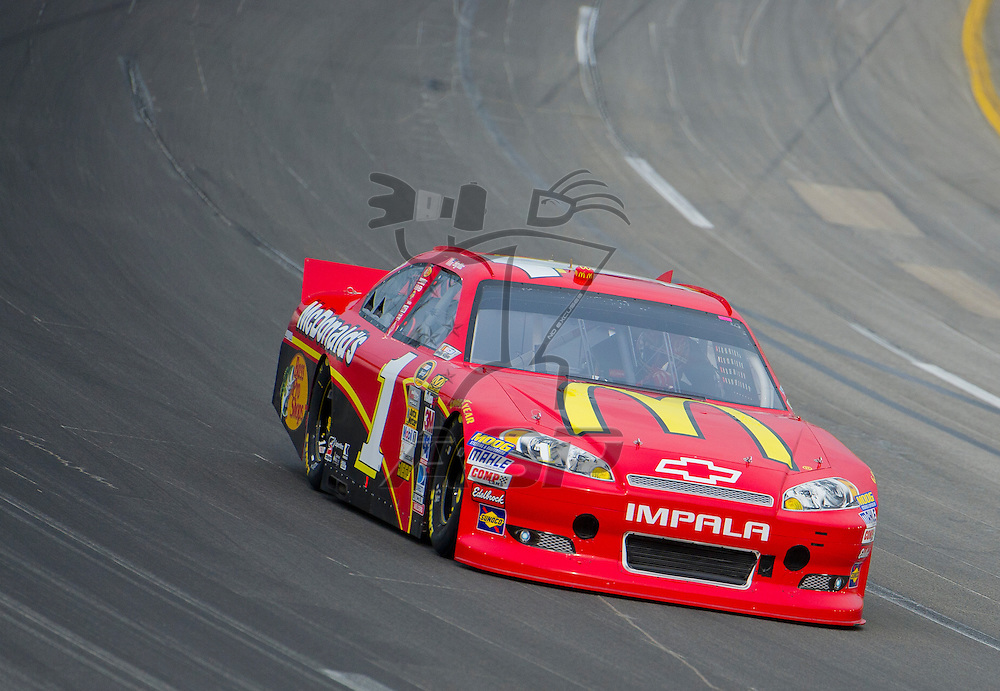 Sparta, KY - JUN 29, 2012: Jamie McMurray (1) during qualifying for the Quaker State 400 at Kentucky Speedway in Sparta, KY.