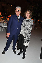 NICKY HASLAM and JILL RITBLAT at a dinner hosted by Cartier following the following the opening of the Chelsea Flower Show 2012 held at Battersea Power Station, London on 21st May 2012.