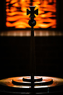 The baptismal font at Grace Lutheran Church on Tuesday, July 14, 2020, in St. Louis. LCMS Communications/Erik M. Lunsford