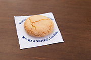 Macarons de Madame Blanchez, almond bisquits. The town. Saint Emilion, Bordeaux, France