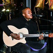Armstrong Martins perfroms at The BAME Donor Gala - Awareness gala hosted by the Health Committee with live music and poetry performances at City Hall at The Queen's Walk, London, UK. 18 March 2019.