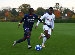 November 6, 2018 - London, England, United Kingdom - Enfield, UK. 06 November, 2018.Sekou Sidibe of PSV Eindhoven and Timothy Eyoma of Tottenham Hotspur.during UEFA Youth League match between Tottenham Hotspur and PSV Eindhoven at Hotspur Way, Enfield. (Credit Image: © Action Foto Sport/NurPhoto via ZUMA Press)