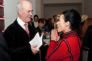CHARLES SAUMERAZ-SMITH; LADY AMANDA HARLECH- THE LAUNCH OF THE KRUG HAPPINESS EXHIBITION AT THE ROYAL ACADEMY, London. 12 December 2011.