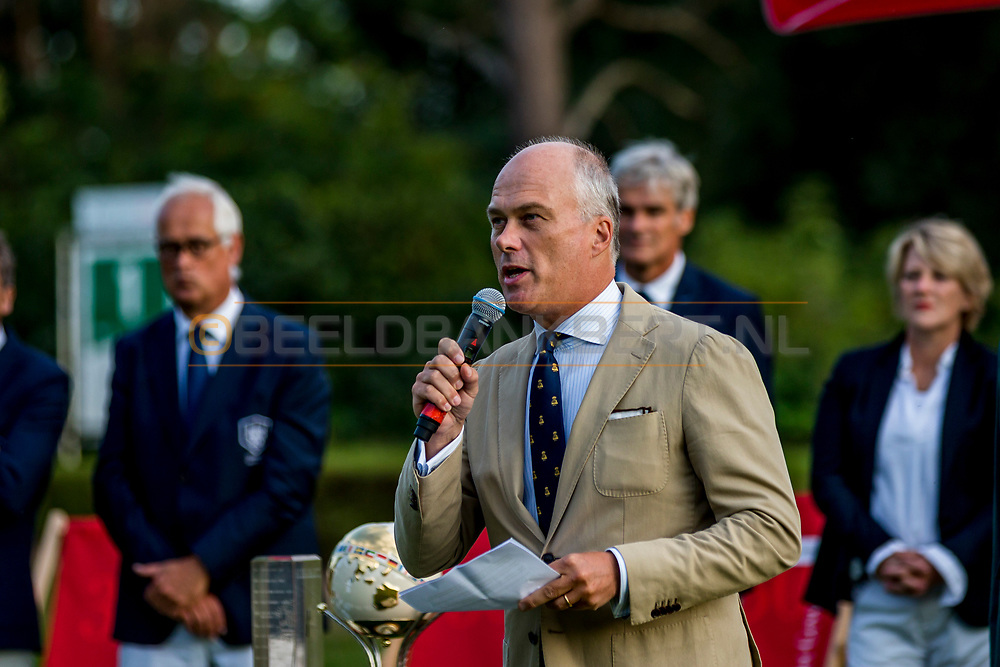 20-07-2019 Pictures of the final day of the Zwitserleven Dutch Junior Open at the Toxandria Golf Club in The Netherlands.<br /> Huib van den Berg, president Toxandria Golf Club