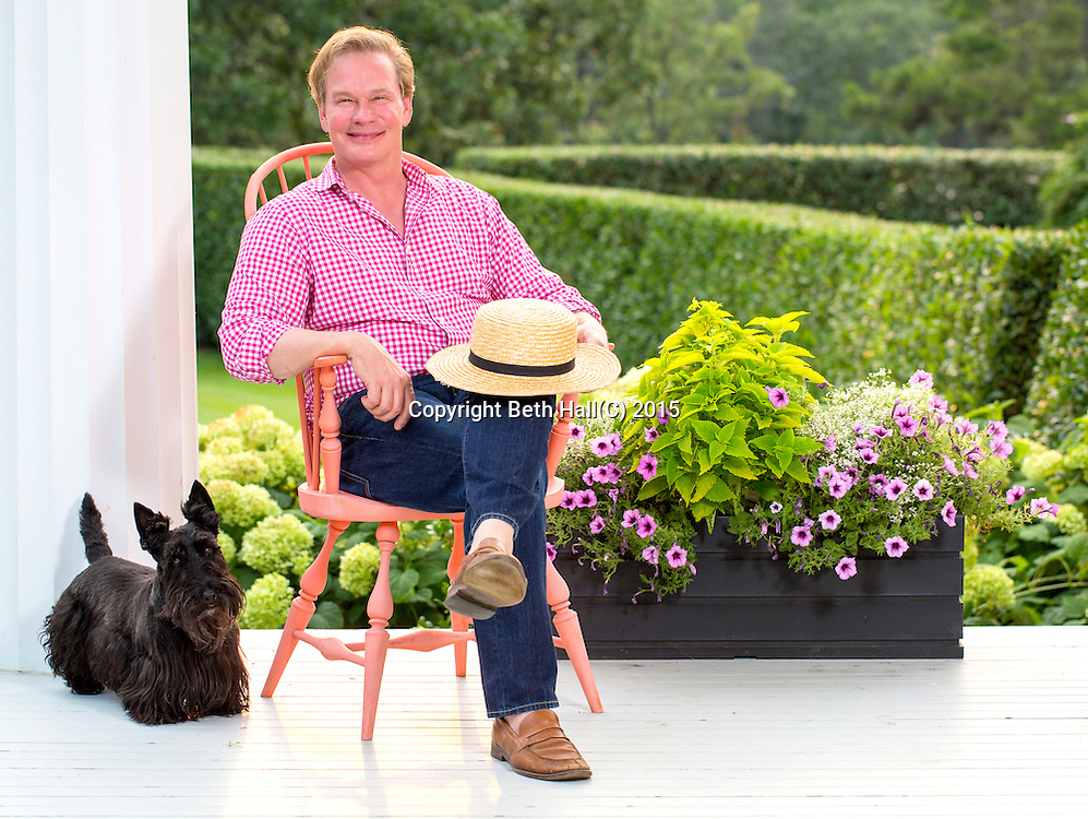 Portrait photography of P. Allen Smith on Tuesday, June 30, 2015, at Moss Mountain Farm in Roland, Arkansas.