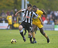 Fotball<br /> England<br /> Foto: Colorsport/Digitalsport<br /> NORWAY ONLY<br /> <br /> Mike Edwards (Notts County) and Craig Dundas (Sutton United)<br /> Sutton United vs Notts County at The Borough Sports Ground<br /> FA Cup sponsored by E.ON. 1st Round 8/11/2008.
