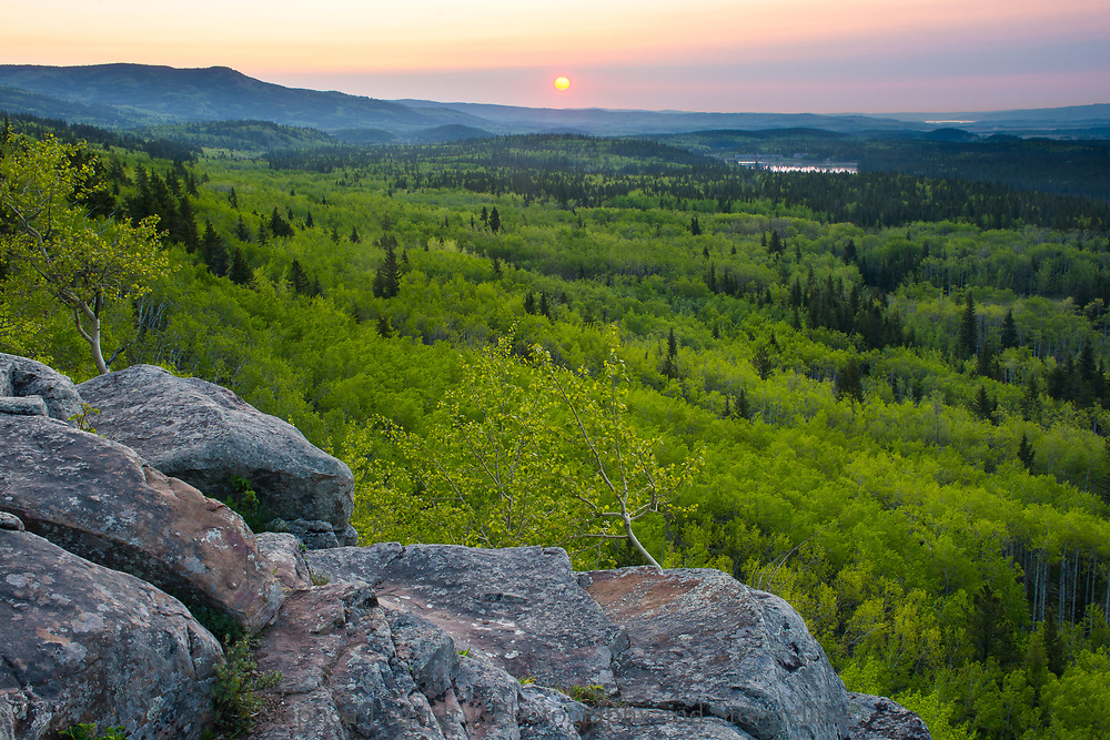 Sunrise, Mount Yamnuska Natural Area, Alberta