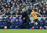 Football - 2019 / 2020 Premier League - Tottenham Hotspur vs. Wolverhampton Wanderers<br /> <br /> Jose Mourinho, Manager of Tottenham FC, shows his frustration as his team struggle at The Tottenham Hotspur Stadium.<br /> <br /> COLORSPORT/DANIEL BEARHAM