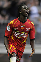 FOOTBALL - FRENCH CHAMPIONSHIP 2010/2011 - L2 - LEMANS FC v STADE LAVALLOIS - 16/05/2011 - PHOTO JEAN MARIE HERVIO / DPPI - JOY FOUSSEYNI CISSE (LMFC)