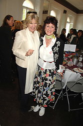 Left to right, LADY ANNABEL ELLIOT and The Hon JANE ORMSBY GORE at a lunch in aid of African Solutions To African Problems held at Il Bottaccio, 9 Grosvenor Place, London on 20th May 2008.<br /><br />NON EXCLUSIVE - WORLD RIGHTS