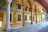 Courtyard of the Eunuchs in the Harem. Topkapi Palace, Istanbul, Turkey .<br /> <br /> If you prefer to buy from our ALAMY PHOTO LIBRARY  Collection visit : https://www.alamy.com/portfolio/paul-williams-funkystock/topkapi-palace-istanbul.html<br /> <br /> Visit our TURKEY PHOTO COLLECTIONS for more photos to download or buy as wall art prints https://funkystock.photoshelter.com/gallery-collection/3f-Pictures-of-Turkey-Turkey-Photos-Images-Fotos/C0000U.hJWkZxAbg
