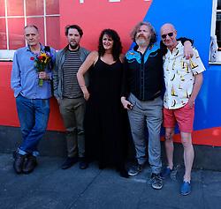 Edinburgh International Film Festival 2019<br /> <br /> Pictured: (l to r) Bill Drummond, Producer Finlay Pretsell, Tracey Moberley, Director Paul Duane and Tam Dean Burn<br /> <br /> Alex Todd   Edinburgh Elite media