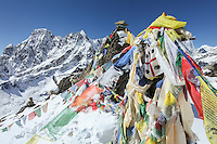The lofty summit of Gokyo Ri in Sagarmatha National Park