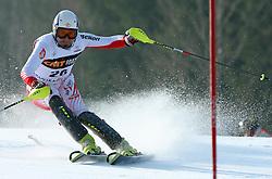 Patrick Bechter at first run of 9th men's slalom race of Audi FIS Ski World Cup, Pokal Vitranc,  in Podkoren, Kranjska Gora, Slovenia, on March 1, 2009. (Photo by Vid Ponikvar / Sportida)