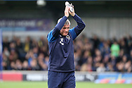 AFC Wimbledon coach Vaughan Ryan clapping during the EFL Sky Bet League 1 match between AFC Wimbledon and Rochdale at the Cherry Red Records Stadium, Kingston, England on 5 October 2019.