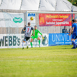 Frankie Artus for Bath City puts pressure on Martin Horsell