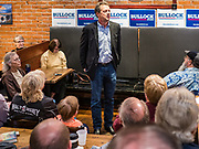 28 MAY 2019 - AMES, IOWA: Governor STEVE BULLOCK (D-MT) speaks during a campaign stop in a coffee shop in Ames. Gov. Bullock is in a crowded field of Democrats vying to be the party's Presidential nominee in 2020. Iowa traditionally hosts the the first election event of the presidential election cycle. The Iowa Caucuses will be on Feb. 3, 2020.               PHOTO BY JACK KURTZ