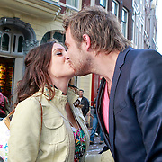 NLD/Amsterdam/20110630 - Uitreiking Jackie's Bachelor List 2011, The Bachelor winnares Marielle en partner Sven