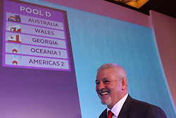 KYOTO, JAPAN - MAY 10: Warren Gatland, Head Coach of Wales poses during the Rugby World Cup 2019 Pool Draw at the Kyoto State Guest House on May 10, in Kyoto, Japan. Photo by Dave Rogers - World Rugby/PARSPIX/ABACAPRESS.COM
